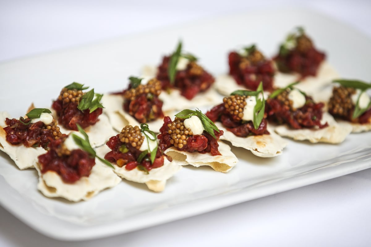 bison-tartare-harissa-pickled-mustard-seed-greek-yogurt-lavosh_28766385020_o.jpg