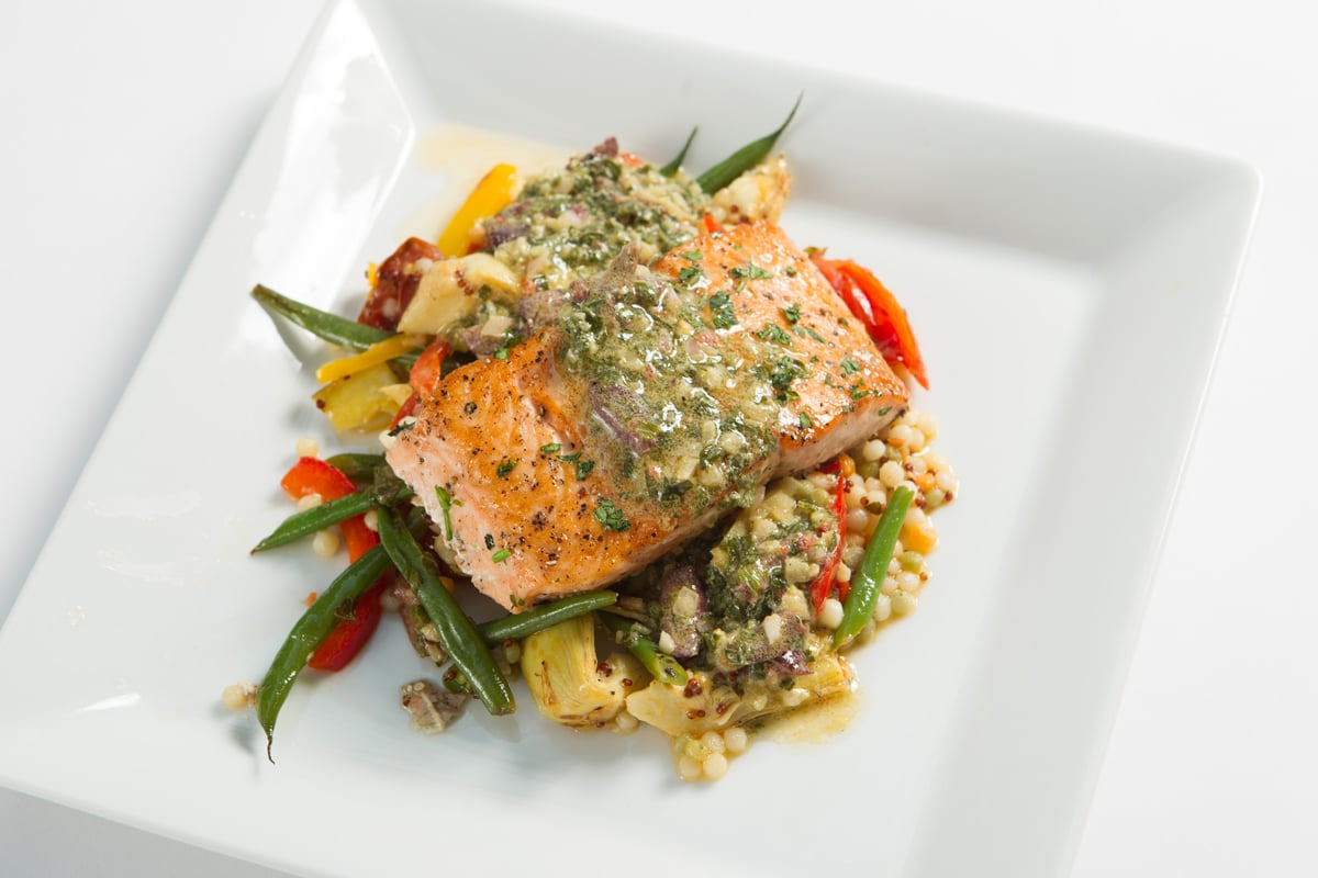 roasted-salmon-tricolor-couscous-mint-artichoke-haricot-vert-heirloom-tomatoes-olive-lemon_8578418480_o.jpg